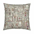 Sharon Turner Architecture Throw Pillow Cover w Optional Insert by Roostery
