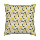 Katie Hayes Textile Des Yellow Throw Pillow Cover w Optional Insert by Roostery