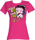 Betty Boop 1930's Cartoon Peace And Love Womans Fitted T Shirt $31.74 AUD on eBay