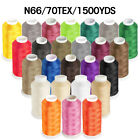 Kyпить 1500YD Nylon Sewing Bonded Thread #69 N66 T70 for Upholstery Leather Beading на еВаy.соm
