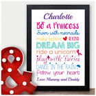 Personalised Birthday Gifts for Girls Her Daughter Princess Unicorn Fairy Gifts