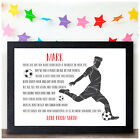 Personalised Birthday Gifts for Boys - Football Footballer Gifts for Son Him