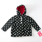 GIRLS TODDLER POLKA DOT HOODED JACKET WITH POCKETS 12M OR 18M NWT
