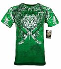 ARCHAIC by AFFLICTION Mens T Shirt GRIFFIN Skulls Cross Wings MMA Biker UFC 40