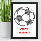 Personalised FOOTBALL Gifts for Boys Him Son Grandson Footballer Christmas Gifts