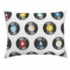 Music 70s 80s Vintage Retro Polka Dots Vintage Inspired Pillow Sham by Roostery image