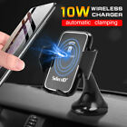 Automatic Clamping Wireless Car Charger 360° Air Vent Phone Holder Stand Mount