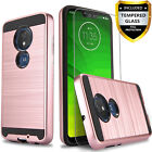 For Motorola Moto G7 Power Plus Supra Optimo Maxx Case +Tempered Glass Protector