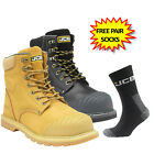 Leather Steel Toe Cap Leather Zip Work Safety Boots JCB 5CX+ Side Zip Release