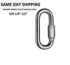 T316 Stainless Steel Carabiner Quick Link Strap Connector Chain Repair Shackle D