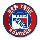 New York Rangers Round  Precision Cut Decal / Sticker $3.49 USD on eBay