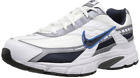 New Nike 394055-101: Men's Initiator White/Obsidian/Metallic Cool Grey Sneakers