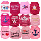 XS S M Pink Dog Clothes Girl T shirt Pet Puppy Vest for Chihuahua yorkie Teacup
