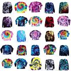 Tie Dye T Shirt Long Sleeve Adult Tye Die S M L XL 2XL 3XL Cotton 100% image