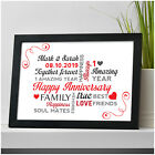 1st First Wedding Anniversary PERSONALISED Gifts for Husband Wife Couples Gifts