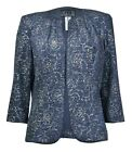 Alex Evenings Women's Glitter Detail Open Front Bolero