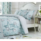 Dreams & Drapes Floral Tulip Duck Egg Print Duvet Cover Set, Bedspread, Curtains