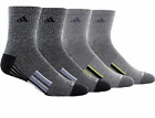 adidas Men's Performance Climalite High Quarter Compression Socks 4-pair 2 Style