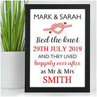 Personalised Wedding Gifts for Bride & Groom Happily Ever After Wedding Day Gift