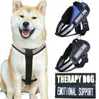Service Dog Vest Harness with 2 Reflective Patches Pet Walk Out Collar S/M/L/XL