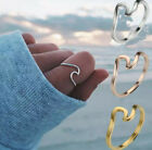 Metal Wave Rings Rose Gold Silver Gold Midi Ring Knuckle Surf Ring For Women