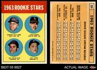 1963 Topps #324 Pete Ward / Vic Daval Colt 45s / White Sox / Indians / Braves EX