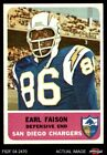 1962 Fleer #87 Earl Faison Chargers EX $25.5 USD on eBay