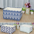 Collapsible Fabric Storage Bin Laundry Basket Toy Box Organizer for Shelves