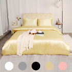 3 Piece Home Bedding Satin Silk Duvet Cover Set for Comforter Blanket Three Size image