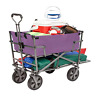 More images of Mac Sports Heavy Duty Steel Double Decker Collapsible Yard Cart Wagon, Purple