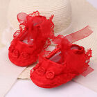 Newborn Baby Girl Shoes Anti-slip Soft Crib Shoes Lace Flower  Sneakers US