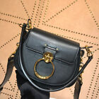 WOMEN CALFSKIN SMALL TESS SHOULDER CROSSBODY BAG WITH GOLDEN BRASS 3S153