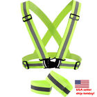 adjustable Outdoor Safety Vest Reflective Belt with 2PCS Hi Vis Bands Vest