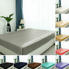 Satin Silk Fitted Bed Sheet with Deep Pocket Ultra Luxury Smooth and Comfy image