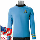 Star Trek Spock Blue Shirt TOS The Original Series Blue Uniform Cosplay Costumes on eBay