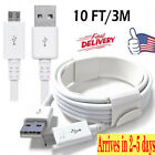 10ft Micro USB Charging Cable Data Sync for Samsung Galaxy Note 3/4/5/8/9 S7 S6