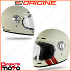 CASCO INTEGRALE ORIGINE HELMETS VEGA STRIPE MATT WHITE BIANCO OPACO