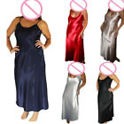 Sexy Long Nightwear Silk Satin Women Night Dress Girls Sleepwear Nightgown S-4XL