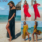 Womens Off Shoulder Maxi Dress Summer Beach Holiday Swimwear Cover Up Kaftan