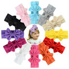 1Pcs Baby Girl Bow Headband 12 Color Cotton Bowknot Hair Accessories For Kids