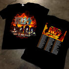 RARE KISS 2019 'End of the Road' World Tour concert 2 side T-shirt Fire Motif image