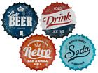 Retro Drink Polypropylene Placemat -  Drink Soda Beer Soda Kitchen