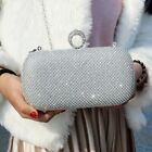 Crystal Rhinestone Ring Evening bag Wedding Bridal Party Prom Hard Clutch Purse