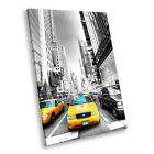New York Taxi Black White  Portrait Scenic Canvas Wall Art Large Picture Prints