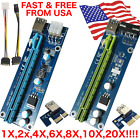 Lot V006C Riser PCIE 1X 16X Powered GPU Adapter USB Cable SATA Molex 6-pin USA