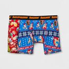 NICKELODEON REN & STIMPY/RUGRATS Men's 2pk Boxer Briefs Holiday