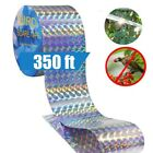 Reflective Bird Scare Tape Holographic Flash Visual-Audible-Repellent Deterrent