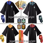 Gryffindor Robe Slytherin Tie Harry Potter Cape Cosplay Costume Dress Adult Kid