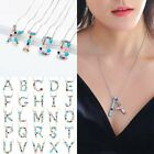 Fashion Full Crystal Initial Large 26 A-z Letters Pendant Necklace Jewellery New