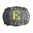 Men Initial Vintage Letters Rodeo Western Style Cowboy Belt Buckle